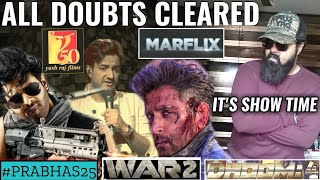 DHOOM 4 | PRABHAS | WAR 2 | SIDHARTH ANAND | HRITHIK | YRF | MARFLIX | PRABHAS25 | ALL DOUBT CLEARED