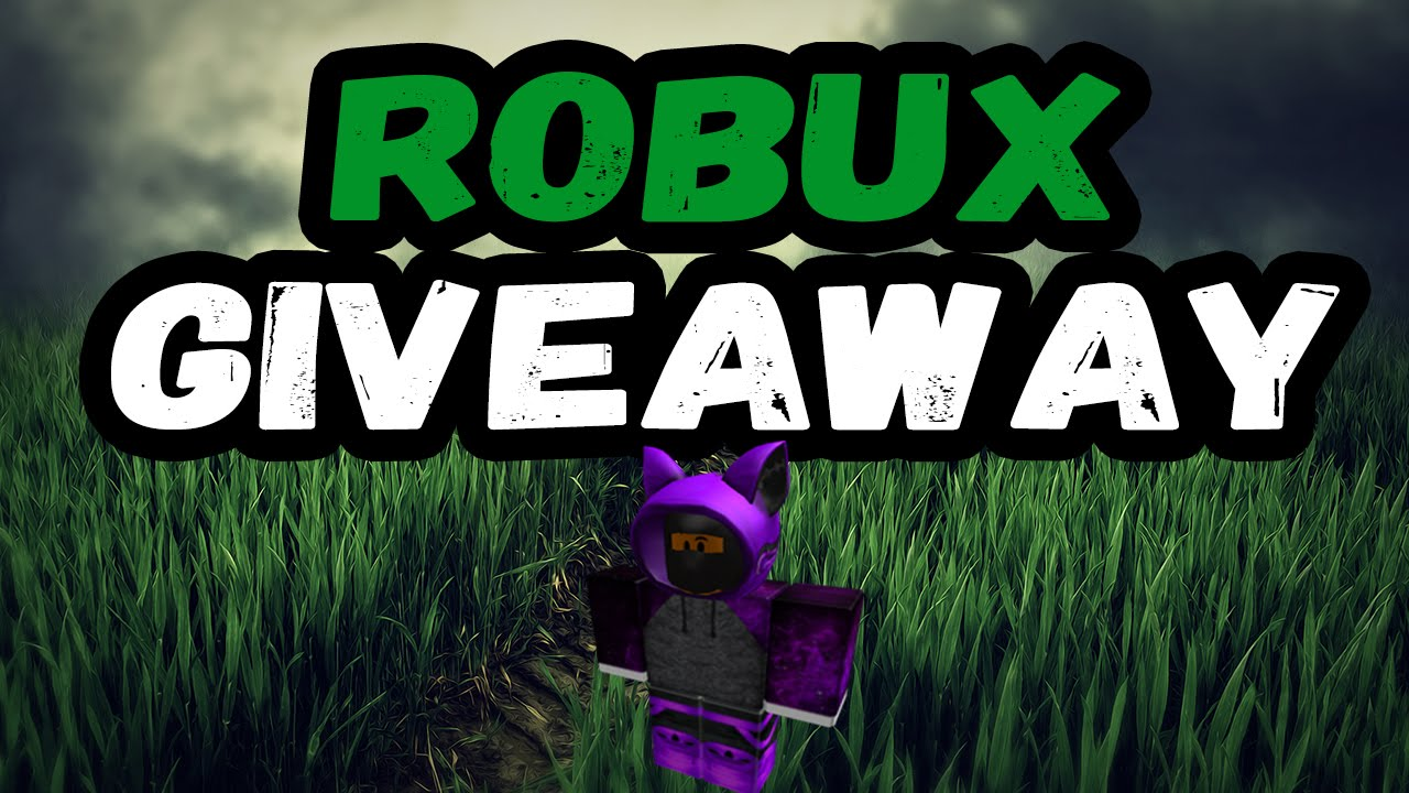Robux Give Away Real Roblox Roblox 1000 Robux Giveaway Free Robux Ibemaine Youtube