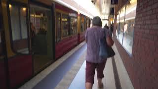 Germany, Berlin, S-Bahn ride from Bornholmer Straße to Gesundbrunnen