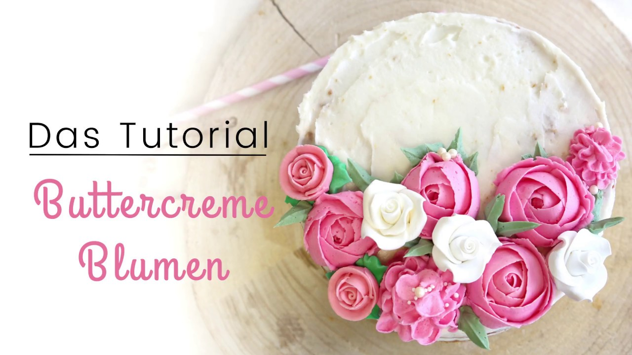 Anleitung Buttercreme Blumen  YouTube