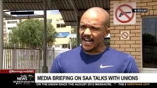 SAA strike   Media briefing on SAA talks with unions