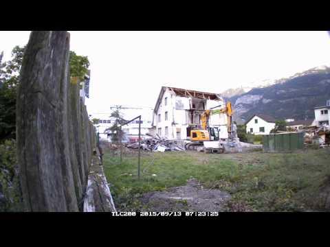 Zeitraffer Abbruch Scalettastrasse 32, Chur