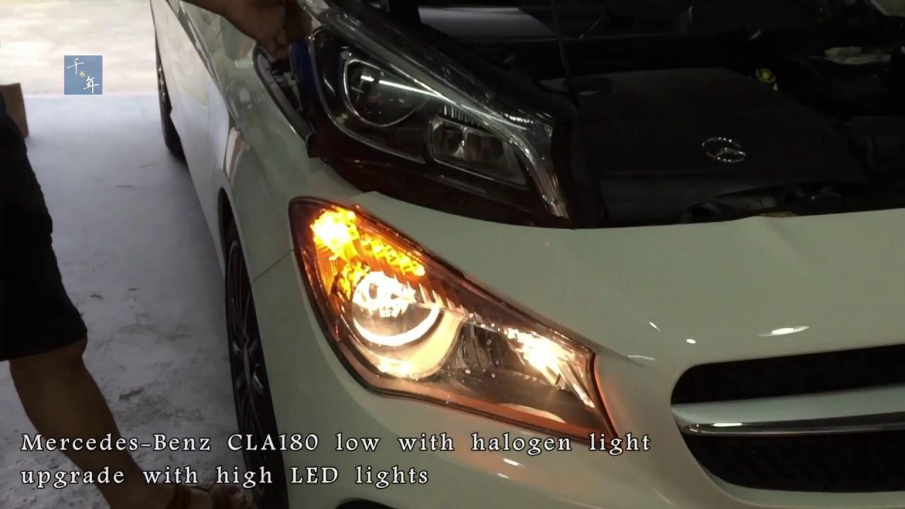 Mercedes Benz W117 Cla250 Cla350 Halogen Headlamp Upgrade Upgrade