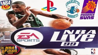 NBA Live 99 PSX Gameplay - NBA on TNT - NBA Finals - Charlotte Hornets @ Phoenix Suns