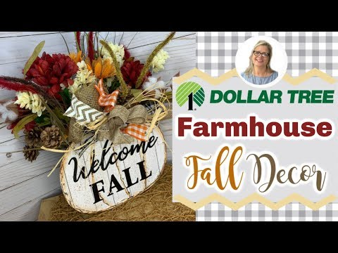 Farmhouse Fall Decor || Dollar Tree DIY || Rustic Fall Country Crafts