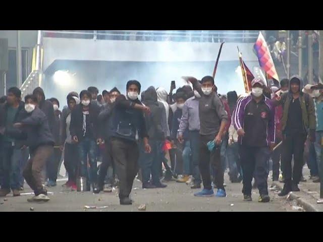 <span class='as_h2'><a href='https://webtv.eklogika.gr/volivia-neos-kyklos-vias-meta-tin-orkomosia-metavatikis-kyvernisis' target='_blank' title='Βολιβία: Νέος κύκλος βίας μετά την ορκωμοσία μεταβατικής κυβέρνησης…'>Βολιβία: Νέος κύκλος βίας μετά την ορκωμοσία μεταβατικής κυβέρνησης…</a></span>
