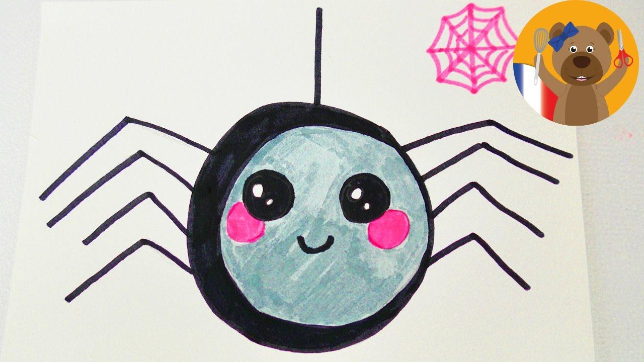 Araignée Pour Halloween Adorable Araignée à Dessiner Pour Une Invitatio D Anniversaire