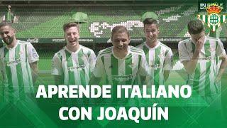 Joaquín tiene que contaros algo en italiano...