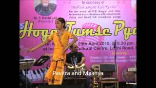 Moh Se Chal Kiye Jaye sung by Pavitra and dancing by Maanya.