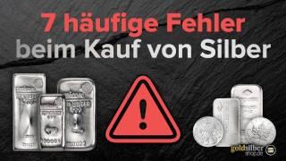 Silber kaufen: 7 häufige Fehler
