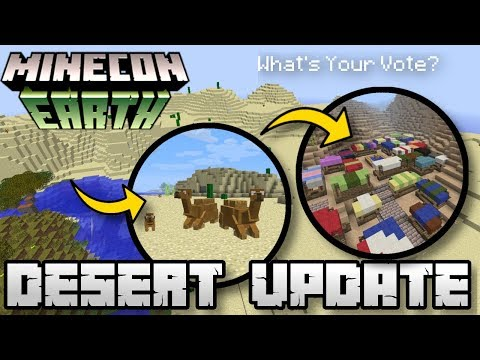 Minecraft  DESERT UPDATE  BIOME   Minecon Vote  MCPE  Xbox  Switch  Bedrock  JAVA
