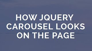 How jQuery Carousel looks - Fascinating Transition Effects! thumbnail