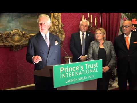 The Prince of Wales speaks at the launch of The Prince