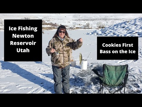 Ice Fishing Newton - Cookies First Time On The Ice - A Bass Fest