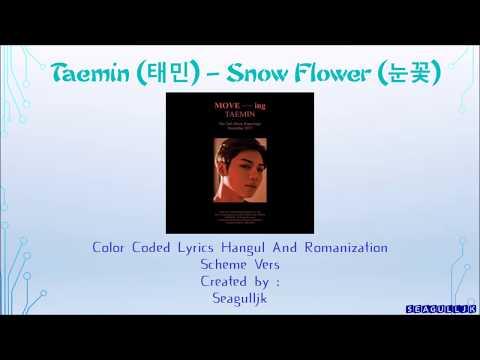 Taemin (태민) – Color Coded Snow Flower 눈꽃[Lyrics Hangul And Romanization] With Scheme [Seagulljk]