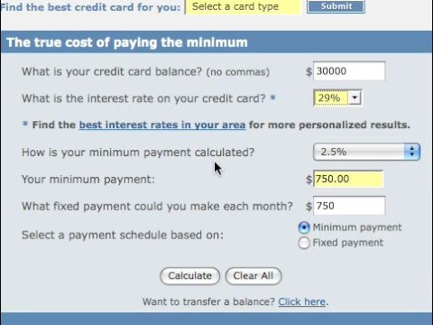 Debt Calculator Tutorial For Credit Card At Bankrate Co