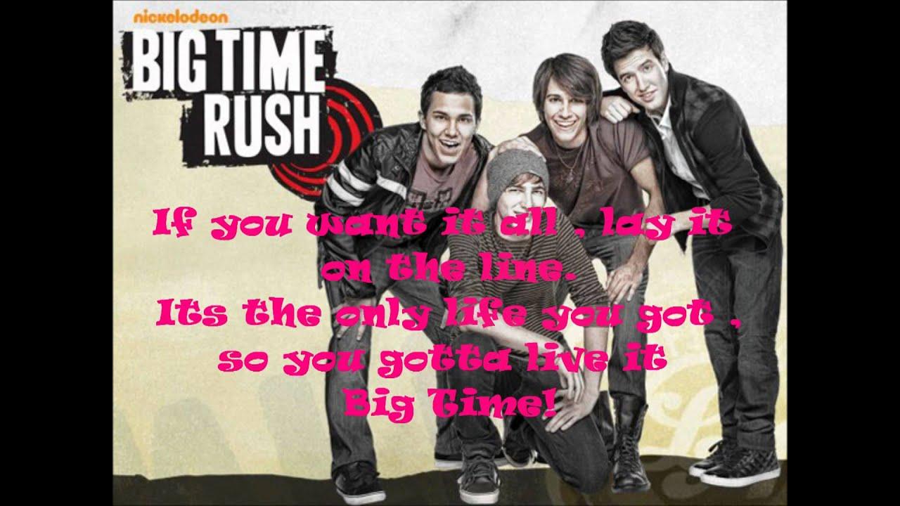 BIG TIME RUSH - BIG TIME RUSH (THEME) LYRICS