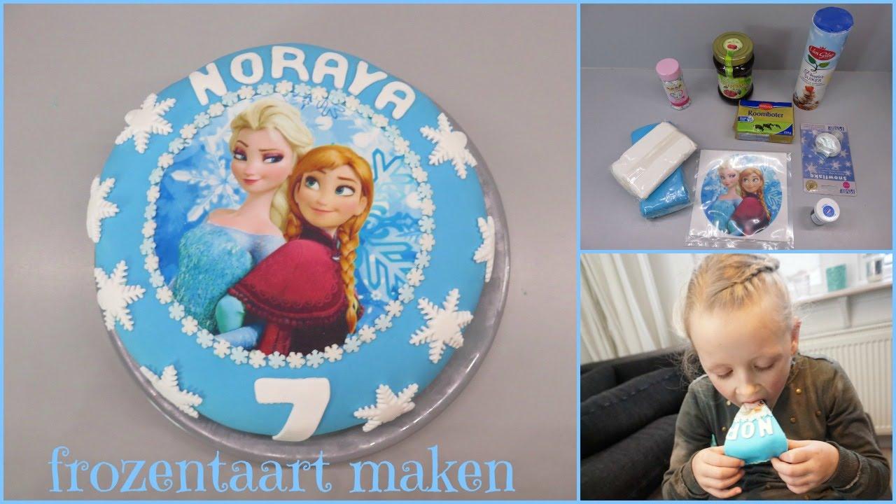 Uitzonderlijk Taart maken / decoreren Frozen - YouTube @WB95