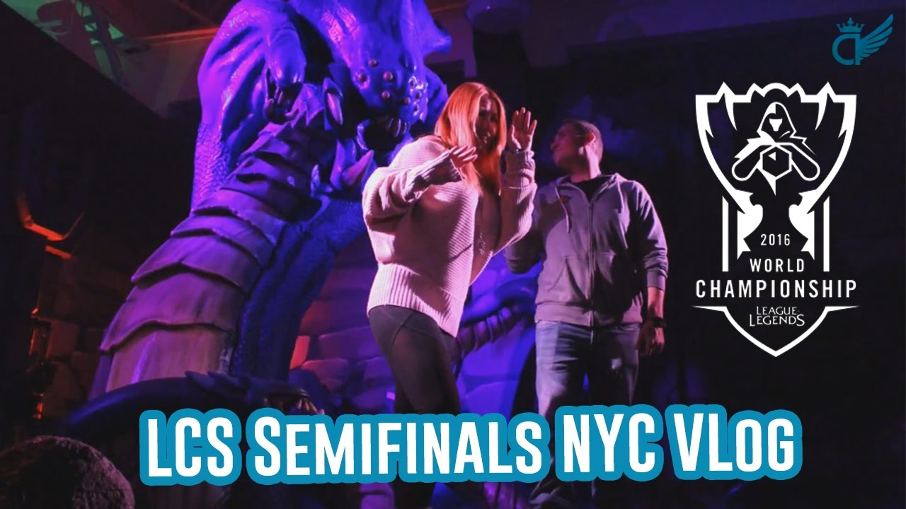LCS Semifinals Vlog In NYC Madison Square Garden [League Of Legends]