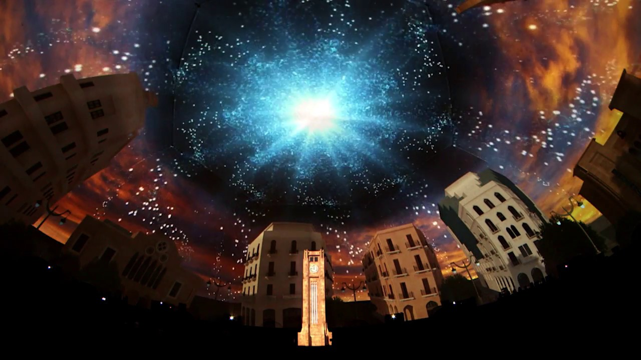 360 176 3d Dome Projection Waterfront Beirut Youtube