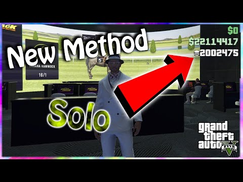 {New Method} 1,000,000 Chips Every 30 Minute, Horse Race Glitch (Xbox One, PS4, PC) In GTA Online...