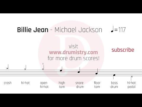 Michael Jackson - Billie Jean Drum Score