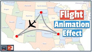 How to Create Flight Animation Effect in PowerPoint 2013