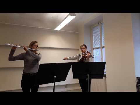 Joseph Boismortier sonata No. 2 in E minor for Flute and Violin
