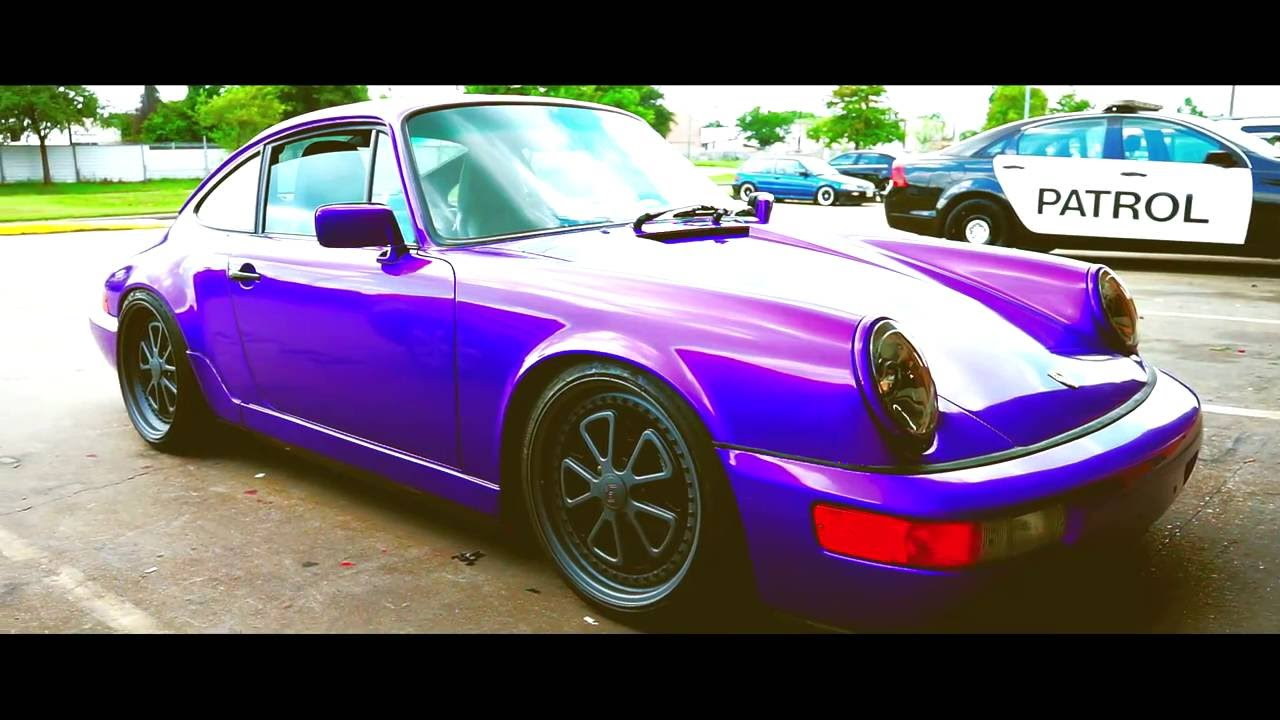 Custom Candy Amethyst Wrap On A Porsche 964 Youtube