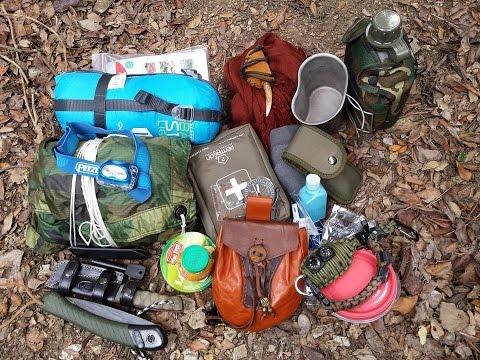 Mochila de supervivencia 48 horas para vivac, bushcraft, acampada.