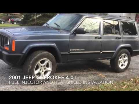2001 Jeep Cherokee 4.0 Fuel Injectors and Heat Shield DIY (heat soak misfire fix)