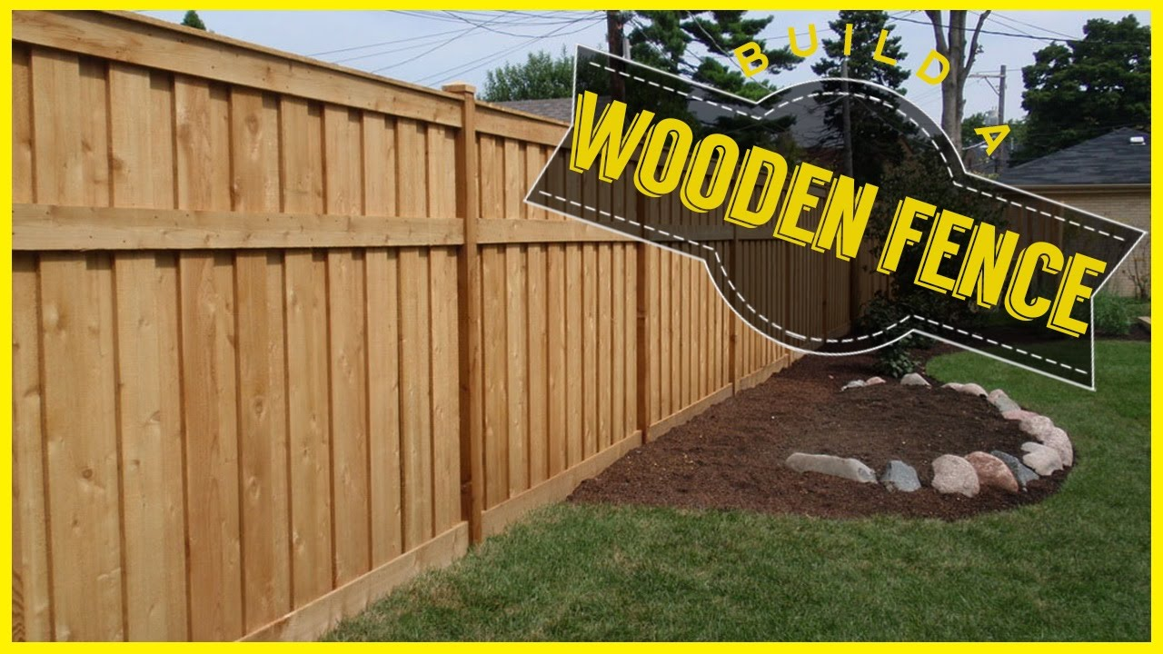 Do It Yourself House Drafting: How To Build A Wood Fence
