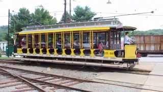 Pennsylvania Trolley Museum - riding car 1758, Washington, PA