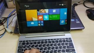 Acer Aspire Switch 10 (SW5-012) Не работает клавиатура; Keyboard not work; (1 часть)