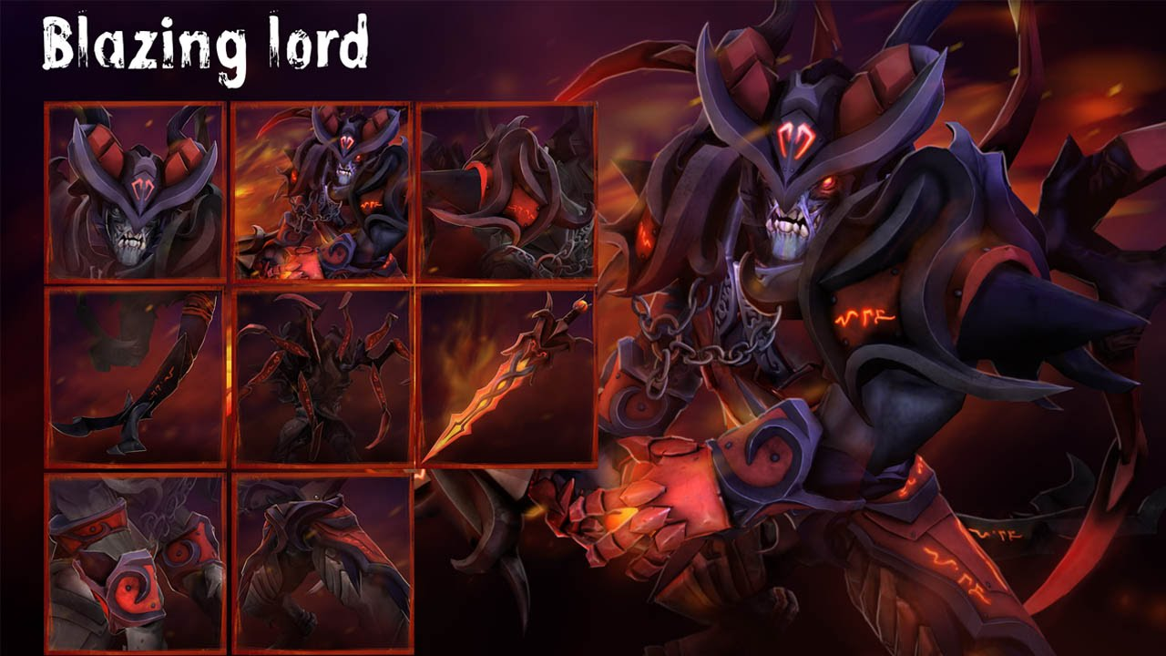 blazing lord dota 2 workshop celths doom set youtube