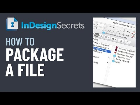 InDesign How-To: Package An InDesign File (Video Tutorial)