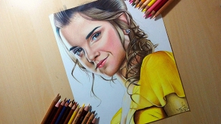 Drawing Emma Watson - The Beauty and the Beast (2017)