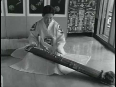 Ancient Korean Traditional Music - Hwang Byeonggi - Kayagum Sanjo Variation (Filmed in 1966)