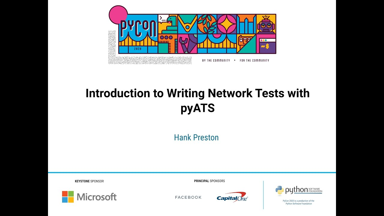 Image from Introduction to Writing Network Tests with pyATS