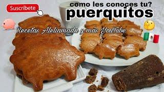 RECETA DE PUERQUITOS | MARRANITOS | PAN DULCE MEXICANO (Receta en descripción)