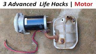 3 Advanced Life Hacks with DC Motor
