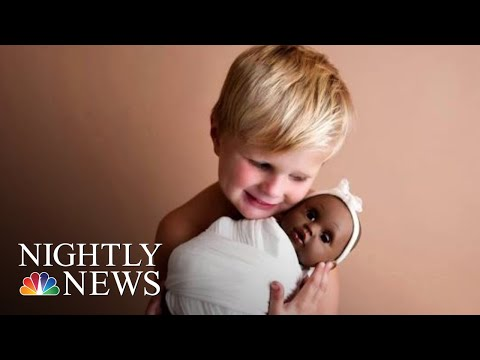 The Inspiring Story Behind This 4-Year-Old Boy's Viral Doll Photos | NBC Nightly News