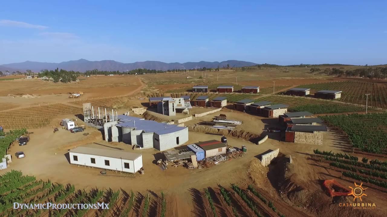 Casa urbina wine resort valle de guadalupe drone youtube for Casa de guadalupe
