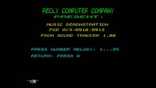 Music Demonstration - Recly Computer Company[#zx spectrum AY Music Demo]