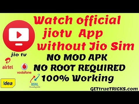 How To Use Official Jiotv App Without Jio Sim   No Mod Apk   No Root Required 2020
