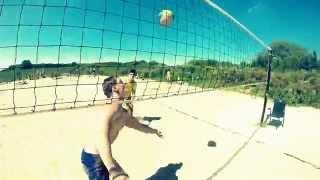Пляжный волейбол с GoPro