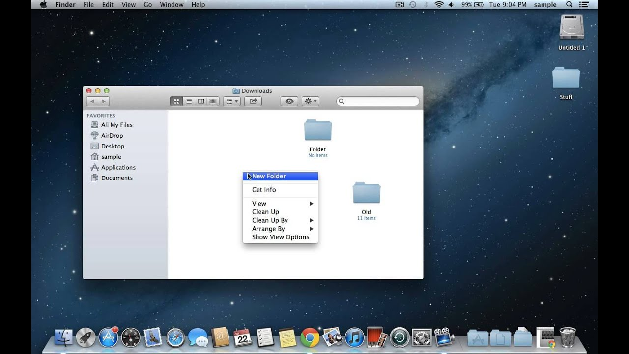 How to create a picture folder on mac