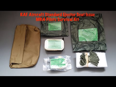 RAF Aircraft Standard Ejector Seat Issue MK.4 Pilots Survival Kit