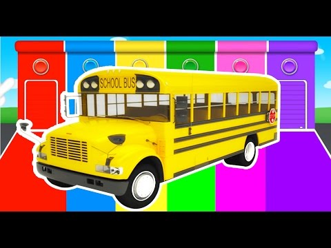 BUS Colors for Kids - Learning Educational Video & Learn Cars Vechicles - Superheroes for Children