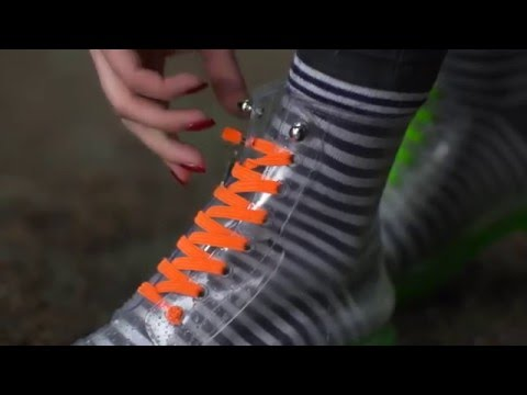 QuickShoeLace - no more lacing your shoes, just yank it and clip it.